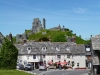 Pub and Corfe Castle