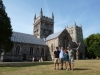 At Wimborne Minster with Dorset Day Trips