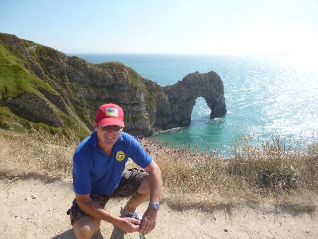 Daren, Dorset Day Trips\' Driver at Durdle Door