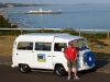 Daren with VW camper at Bournemouth pier