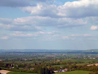 View across the countryside